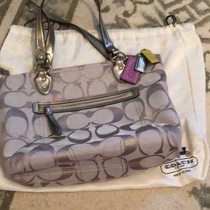 Coach Bags - Coach Shoulder bag. Champagne Bronze/ canvas.